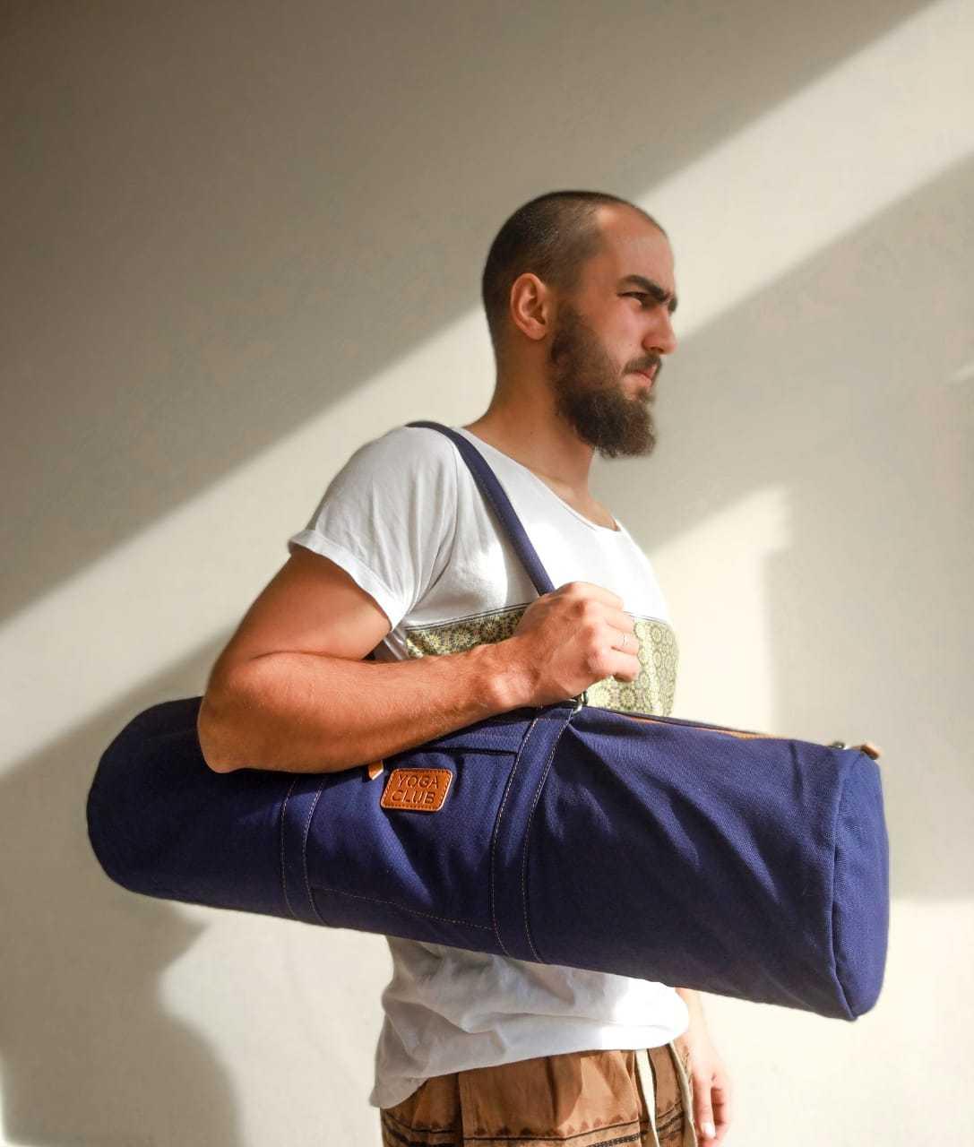Сумка хлопковая для йога коврика Yoga Club (под заказ из СПб)