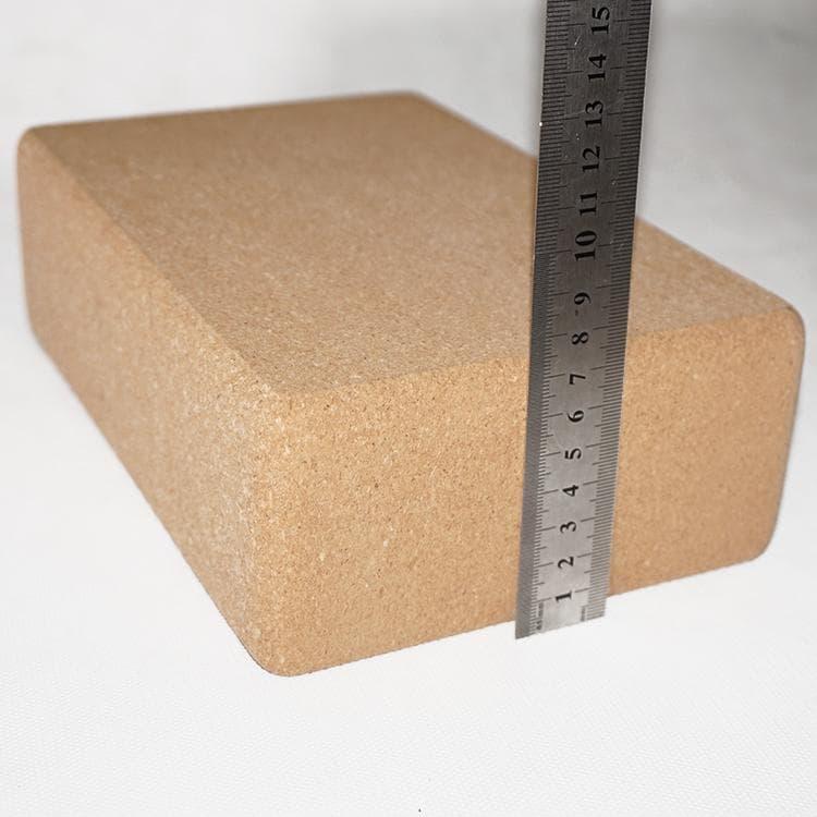 Блок (кирпич) для йоги из пробки 23х15х7,5 Yogasport (под заказ)