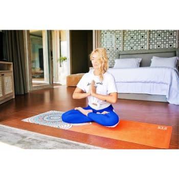 Коврик для йоги Мандала огня Travel Letsmakeyoga дизайнерский