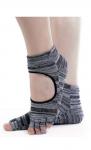 Носочки с вырезом и открытыми пальчиками для йоги фото