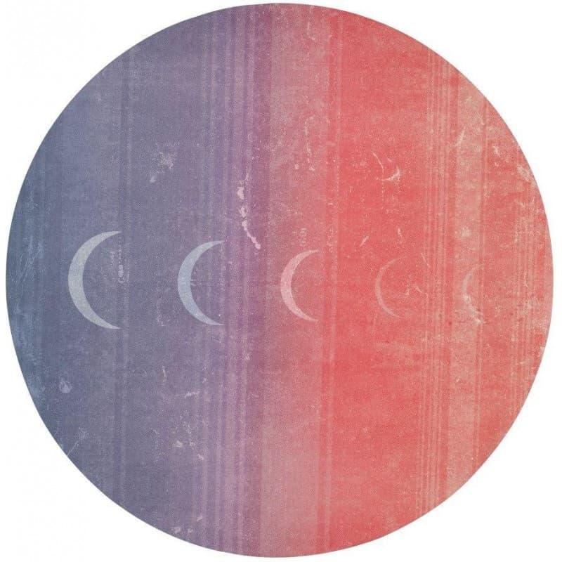 Коврик для йоги eQua eKO Round Yoga Mat Luna Sunrise 3x150 Manduka из каучука + микрофибра (под заказ из СПб)