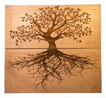 Доска Садху с гвоздями «Древо жизни» медь заказать