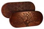 Доска Садху с гвоздями «Древо жизни» овал цинк темное дерево заказать