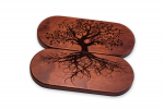 Доска Садху с гвоздями «Древо жизни» овал цинк темное дерево для йоги