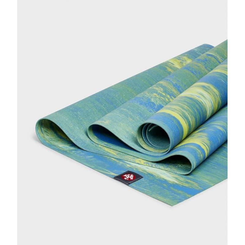 Коврик для йоги EKO SuperLite Travel Digi Lime Marbled 1.5 мм 61x180 см Manduka из каучука (под заказ из СПб)