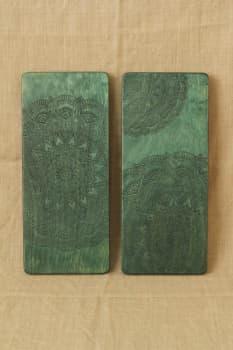 Йога доска Садху с гвоздями Зеленая Волна Медь