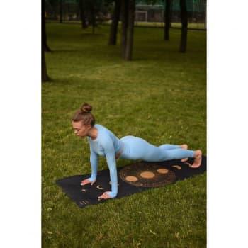 Коврик для йоги Гелиос 3мм 60х183см джут+каучук Niidra (Let's Make Yoga)