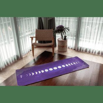 Коврик для йоги Лунный цикл 6мм 60х183см микрофибра+ТПЕ Niidra (Let's Make Yoga)