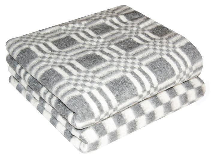 Одеяло байковое для йоги (хлопок) 212 х 140 см, серая клетка