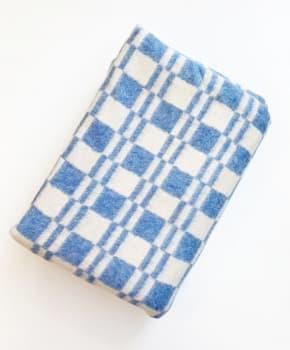 Одеяло байковое (хлопок) мягкое 212 х 140 см, голубая клетка