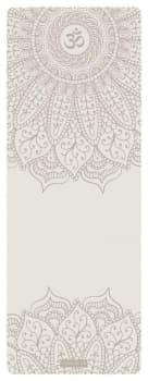 Коврик для йоги OM WHITE 4,5мм 68x185см Yoga Club из каучука с покрытием non slip