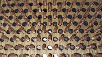 Йога доска Садху с гвоздями Ом (с орнаментом) Медь+Цинк (под заказ)