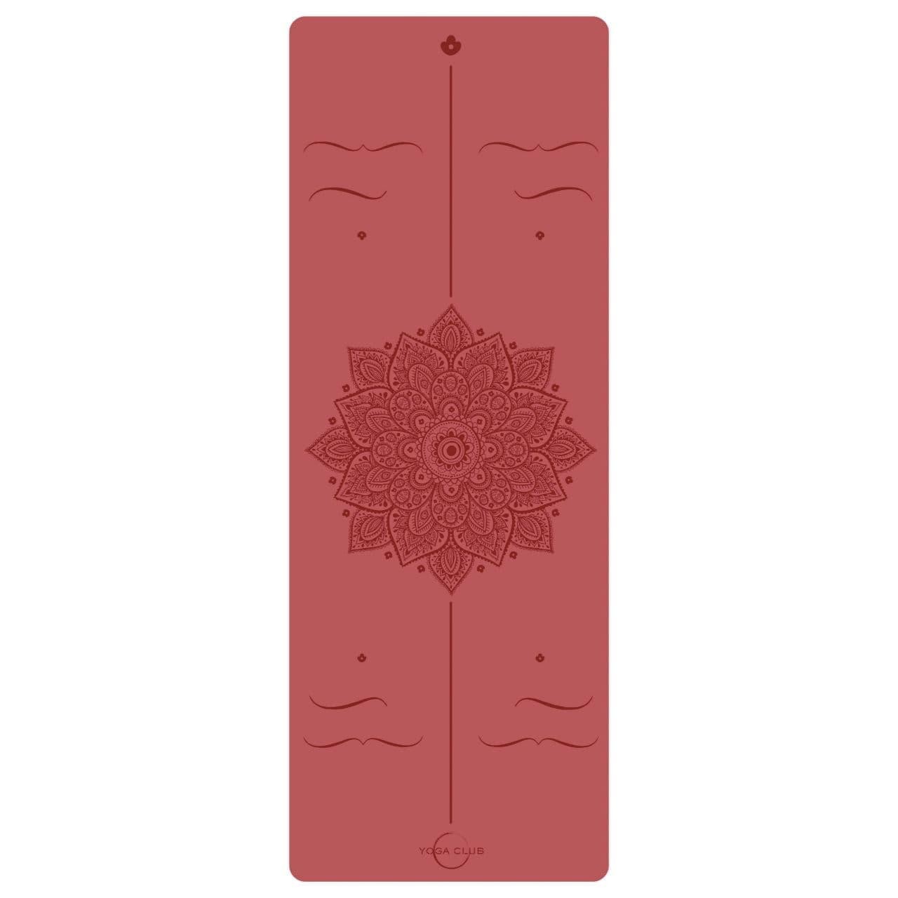 Коврик для йоги AMRA RED 4,5 мм 68х185 см Yoga Club из каучука с покрытием NON SLIP
