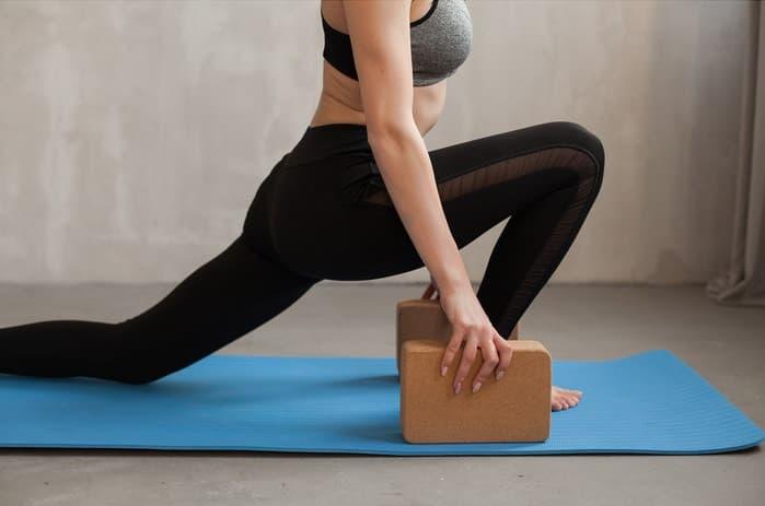 Блок (кирпич) для йоги из пробки 7х15х22